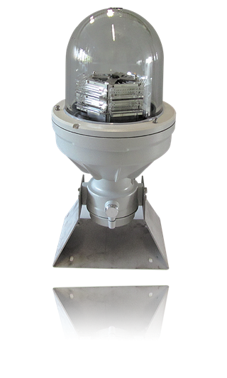 Medium Intensity Aeronautical Obstruction light (MIOL) WHITE/RED, multi LED type. In compliance with ICAO Annex 14 Type AB, Type AC and FAA L-864/L-865.