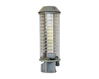 High Intensity Obstruction Light (HIOL) LXS-ROUND (120° or 360°), multi-LED type, compliant to ICAO Annex 14 Type B and FAA L-857.