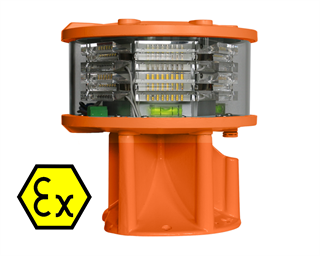 Medium Intensity Aeronautical Obstruction light (MIOL) WHITE, multi LED type. In compliance with ICAO Annex 14 Type A and FAA L-865.